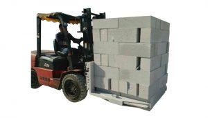 液压叉车混凝土砖块提升夹具